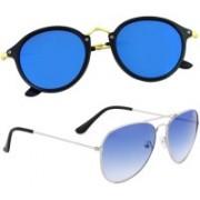 Phenomenal Aviator, Cat-eye Sunglasses(Blue)