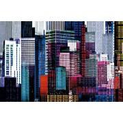 Ideal Décor Ideal decoración dm641 Colorful Rascacielos 45-inch-by-69-inch Mural