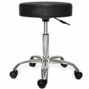 Kis gurulós kozmetikai szék - Fekete