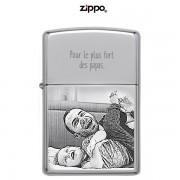 Briquet ZIPPO gravé et personnalisé High polish