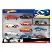 Mattel hot wheels modellini auto 54886-0 - set da 10, assortiti