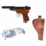 Prijam Air Gun Bsw-2 Model With Metal Body For Target Practice Combo Offer 300 Pellets With Cover Air Gun