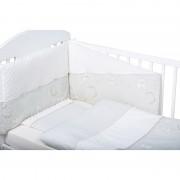 Bubaba set posteljine za krevetić 6 dijelova Medini snovi minky bijela