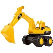 JCB Toy Construction Friction Power Rev-Up Vechicle Toy (Multicolor)