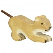 Fa játék állatok - oroszlán, kicsi, játszó