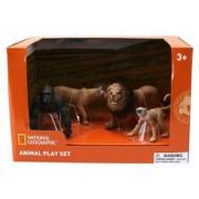 Set 4 figurine - Gorila Maimuta Leu si Leoaica NTM02007