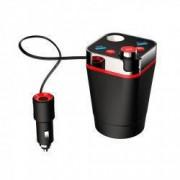 Car kit modulator fm A18 cu MP3 bluetooth USB 3.1 soclu auto TF card reader si handsfree afisare voltaj baterie