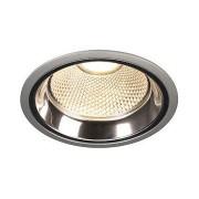 LED DOWNLIGHT PRO R, rond, gris argent, 12W, module LED Disk 800lm, 2700K inclus