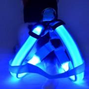Svietiaca LED postroj pre psov MODRÝ