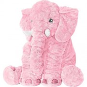 Stuffed Elephant Animal Fluffy Large Stuffed Elephant Plush Toy Softness Giant Gifts For Children Kids 24 Inches 1kg, Pink