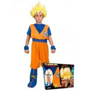Vegaoo Super Saiyan Goku Dragon Ball-Lizenzkostüm für Kinder orange-blau