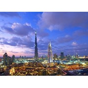 PigBangbang,Intellectiv Games Photomosaic Jigsaw Puzzle Basswood in a Box 500 Piece 20.6 X 15.1'' Famous Paintings Home Decoration-Dubai Burj Khalifa Skyscraper