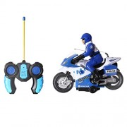 Archana NHR High Speed RC Bike, Remote Controlled Toy Police Motorcycle with Sound n Light (Blue)