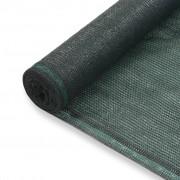 vidaXL Rede de ténis PEAD 1,4x50 m verde