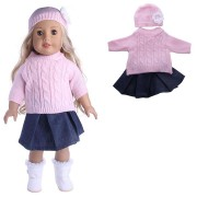 Sweater Cap Jeans Dress Coat Doll Set For 18' American Girl My Life Doll Accessories
