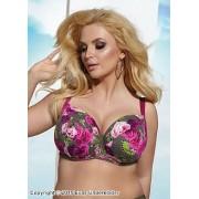 Vadderad bikinitopp med vackra rosor
