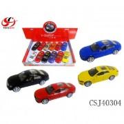 Játék autó fém, lendkerekes és elemes (1 db)
