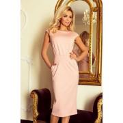 numoco Dámské midi šaty SARA ve špinavě růžové barvě model 5917757 XL