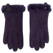 Ръкавици UGG - W Shorty Glove W Leather Trim 17367 Nightshade