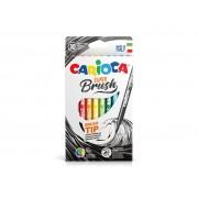 Carioci cu varf de pensula, Carioca Super Brush 10 buc cutie