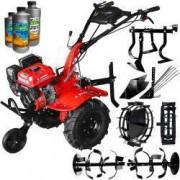 Motocultor Rotakt RO100-7B ECO 7 CP freza 105 cm roti cauciuc rarita fixa plug cartofi prasitoare roti metal + 3l ulei AgroPro