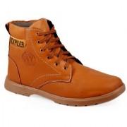 Stylos Mens Tan Lace-Up Boot