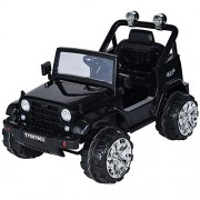 Costzon Kids Ride On Jeep Truck Car 12V2 Motor Remote Control Vehicle with LED Lights Music MP3, Black
