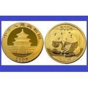 China 2009 - 500 yuan, moneda cu panda, aurit