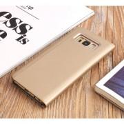 Husa Flip Cu Stand Samsung Galaxy S8 G950 Tip Oglinda Aurie