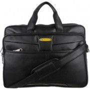 Blowzy Collection Durable Briefcase Carrying Case for 15.6 in Laptop Waterproof Messenger Bag(Black, 16 inch)
