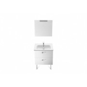 Set mobilier Roca Victoria Basic dulap baza cu 2 sertare 60 x 45cm, lavoar si oglinda cu spot -A855859806