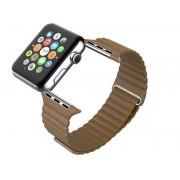 """Brązowy Skórzany Pasek """"LOOP"""" - Zapięcie magnes do Apple Watch 38mm"""