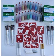Large Glitter Tattoo Kit for Fundraisers and Large Events 400 Stencils