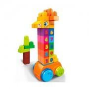 Детска играчка, Игрален комплект Mega Bloks, поскачащо жирафче с цифри, 175058