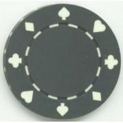 Jeton poker Suit 11.5g - Culoare Gri