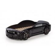 Детско легло тип кола Мустанг 3D в черен цвят