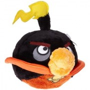 Angry Birds Fire Bomb Bird Black (10-inch)