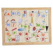 Skillofun Wooden Magnetic Twin Play Tray - Alphabet Attic, Multi Color