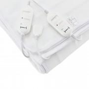 [casa.pro]® Elektromos takaró - Melegítő takaró - 60W, 230V, 50Hz - 150 x 80 cm - Fehér