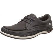 Clarks Men's Orson Lace Lea Grey Leather Sneakers - 10 UK/India (44.5 EU)