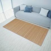 vidaXL Правоъгълен кафяв бамбуков килим 150 х 200 см