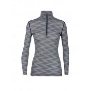 ICEBREAKER Damen Funktionsshirt 200 Oasis Long Sleeve Half Zip Curve schwarz S