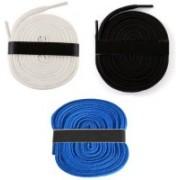 Fashion Gateway 36 Inch Sports Shoe Cotton SL17 Shoe Lace(White, Brown, Blue Set of 3)