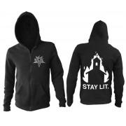 kapucnis pulóver férfi - Stay Lit - BLACK CRAFT - ZS037SL