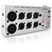PYLE-PRO PCT60 13 in 1 Audio Cable Tester (1/4-Inch 1/8-Inch XLR Speakon RCA RJ45 USB-A/B TT Bantam DIN)