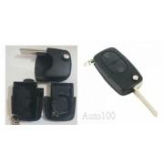 Carcasa telecomanda compatibila VW tip briceag cu 2 butoane