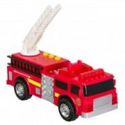 Masinuta rosie pompieri cu sunete si lumini