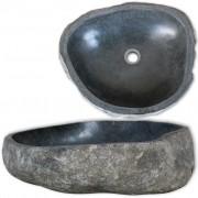 vidaXL Oválne umývadlo z riečneho kameňa 50 cm