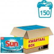 Sun All-in-1 vaatwastabletten - normaal - 150 tabs - 6 x 25 stuks