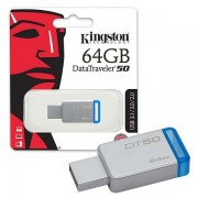 Kingston 64GB DT USB 3.0 DT50/64GB metal - plavi